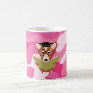 Rosa Camouflage-Studien-HundeTasse Tasse