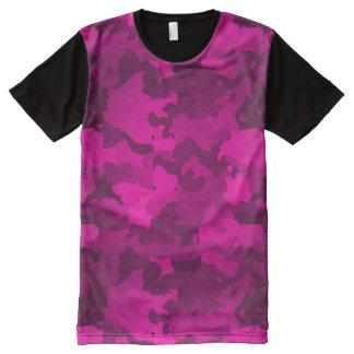 Rosa Camouflage T-Shirt Mit Komplett Bedruckbarer Vorderseite