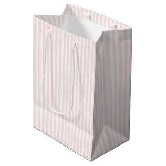 Rosa Charlotte und Weiß Stripes Baby-Rosa Mittlere Geschenktüte