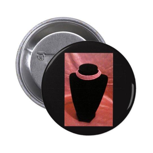 rosa Chokerknopf Runder Button 5,7 Cm