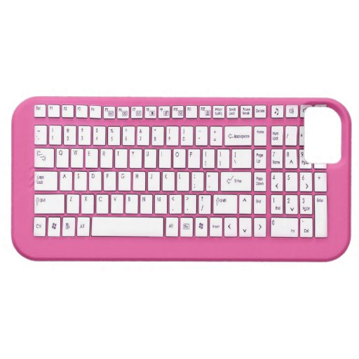 Rosa Computertastatur Blackberry Hülle