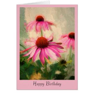 Rosa Coneflower Geburtstags-Gruß-Karte Karte