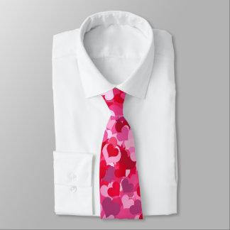 Rosa Confetti-Herzen Bedruckte Krawatten
