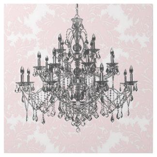 Rosa Damast-Leuchter Galerieleinwand