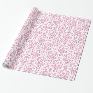 Rosa Damast-Packpapier Geschenkpapier