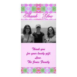 Rosa danken Ihnen Photogrußkarten