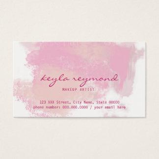 rosa Darstellungs-/Make-upmake-up pinkish Visitenkarte
