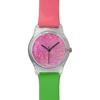 Rosa Diamant-Art Uhr