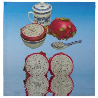 Rosa Drache-Frucht Stoffserviette