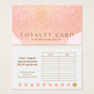 Rosa Durchschlags-Salon-Loyalitäts-Karte des Visitenkarte