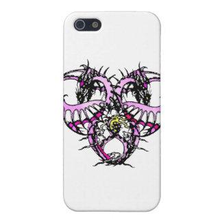 Rosa Eis Dragonheart Etui Fürs iPhone 5