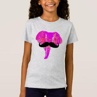 ROSA ELEFANT-SCHNURRBART T-Shirt