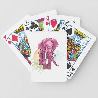 Rosa Elefant zeichnen - Sonnenuntergangvektor Bicycle Spielkarten