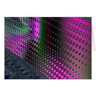 rosa elektrisches grußkarte