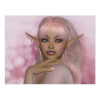 Rosa Elf Postkarte