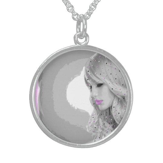 Rosa Engel Sterlingsilber Halsketten