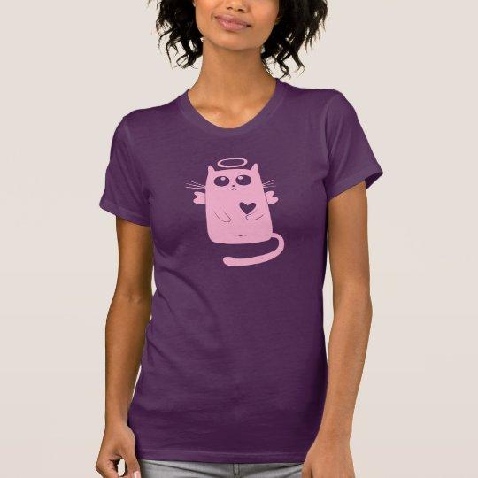 Rosa Engels-Katze T-Shirt