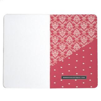 Rosa entwarf Taschenzeitschrift Taschennotizbuch