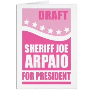 Rosa Entwurfs-Sheriff Joe für Präsidenten Karte