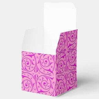 Rosa extravagantes Wirbles Damast-mit Blumenmuster Geschenkkarton