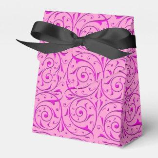 Rosa extravagantes Wirbles Damast-mit Blumenmuster Geschenkkartons