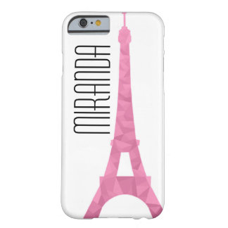 Rosa Facetten-Eiffel-Fall Barely There iPhone 6 Hülle