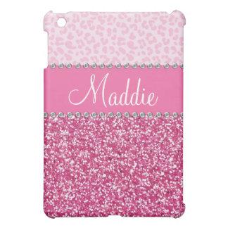 Rosa Fall iPad des Glitzer-diamante de iPad Mini Schale
