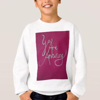 rosa fantastisches Papier geschnittenes Weiß Sweatshirt