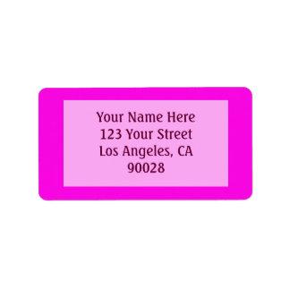 rosa Farbe Adressaufkleber