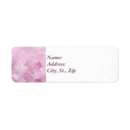 Rosa Farben Rückversand-Adressaufkleber