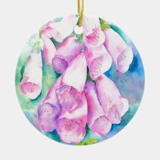 Rosa Fingerhüte des Aquarells Keramik Ornament