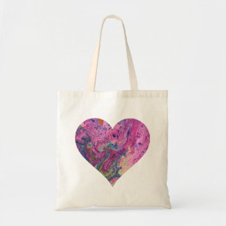 Rosa Fizz-Herz-EinkaufsTasche Tragetasche