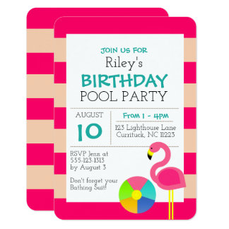 Rosa Flamingo-Anlass-Einladung Karte