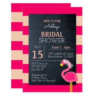 Rosa Flamingo-Brautparty-Einladung Karte