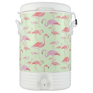 Rosa Flamingo-Getränk cooler Getränkekühler