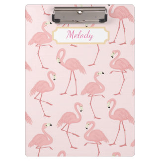 Rosa Flamingo-Glück Klemmbrett