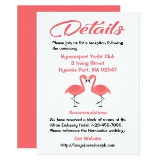 Rosa Flamingo-Hochzeit führt tropischen Sommer Karte
