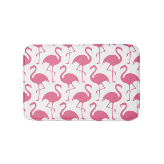 Rosa Flamingo-Muster Badematte