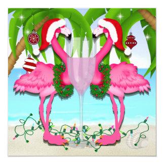 Rosa Flamingo-Spaß-Einladung #holidayZ Karte