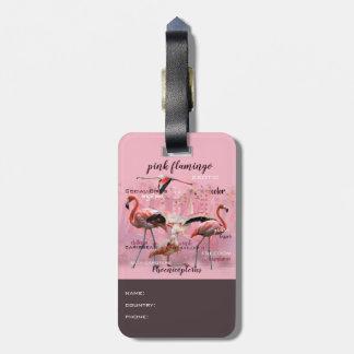 Rosa Flamingo-Typografie   besonders angefertigt Kofferanhänger