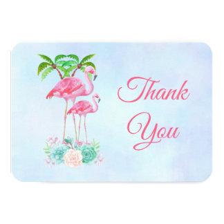 Rosa Flamingo-u. Palme-Babyparty-Dank Karte