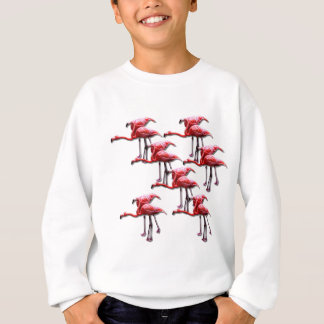 Rosa Flamingo-Vogel-Entwurf Sweatshirt