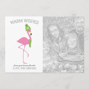 Rosa Flamingo-Weihnachtskarte Weihnachtskarte