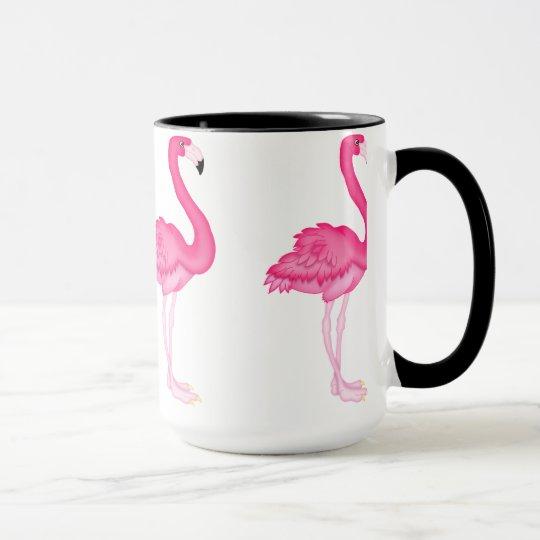 Rosa Flamingokaffee-Tasse Tasse