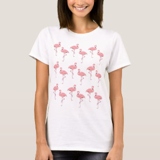rosa Flamingomuster T-Shirt