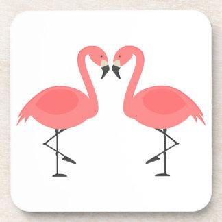 Rosa Flamingos tropische Hochzeit, Party, Luau Getränk Untersetzer