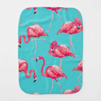 Rosa Flamingovögel auf Türkishintergrund Baby Spucktuch