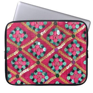 Rosa flippiger gestrickter bezaubernder computer schutzhüllen
