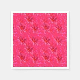 Rosa Frangipani-Leidenschafts-Muster, Papierserviette