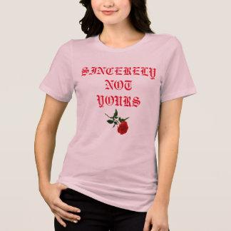 Rosa Frauen-Rosen-Shirt T-Shirt